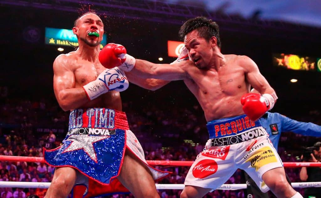 Keith Thurman y Manny Pacquiao