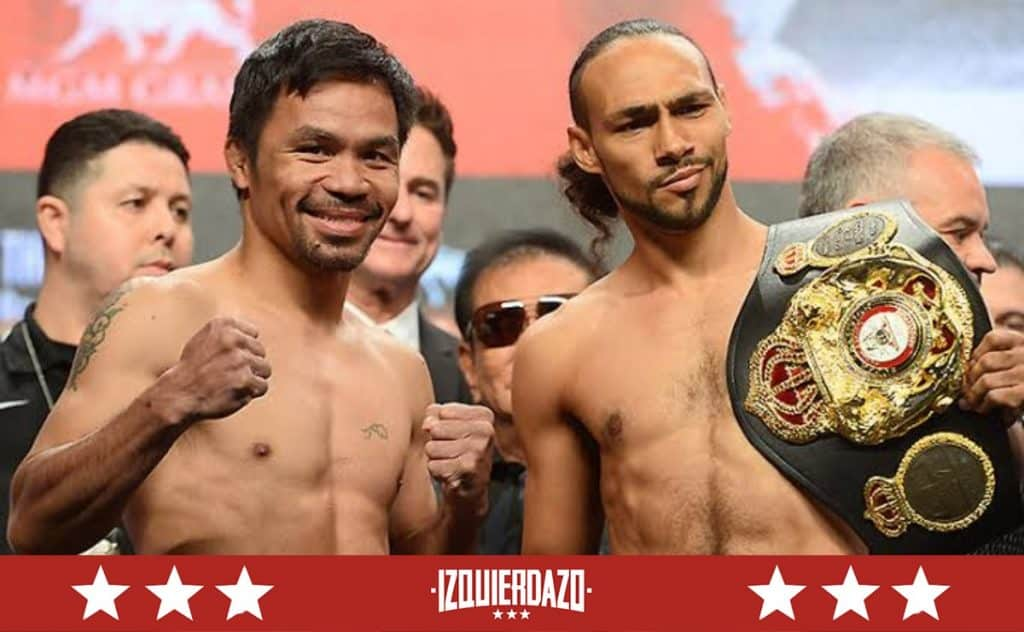 Manny Pacquiao y Keith Thurman
