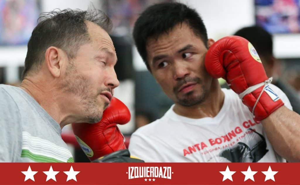 Justin Fortune y Manny Pacquiao